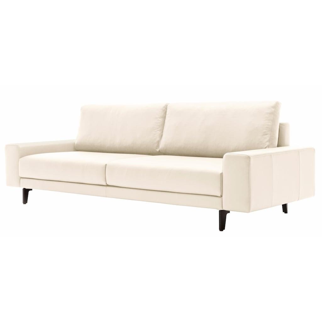 hülsta sofa 3-Sitzer »hs.450«, wahlweise in Stoff oder Leder, mit kubischer Armlehne