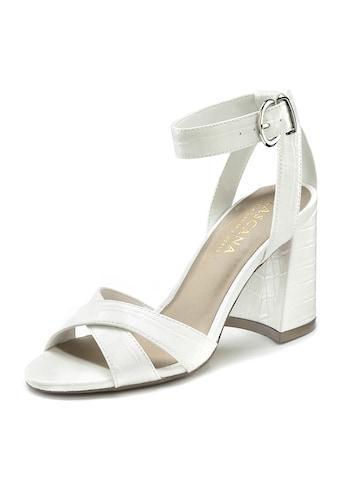 LASCANA Sandalette, mit Blockabsatz und modischer Kroko-Optik kaufen