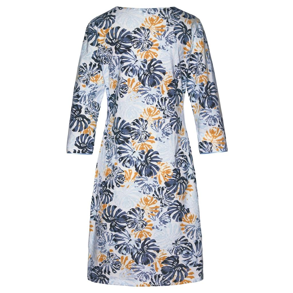 Cybèle Nachthemd, mit Blätterprint