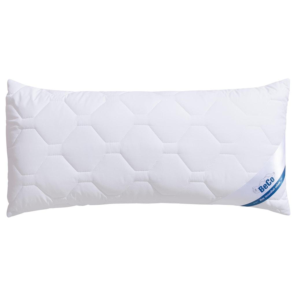 Beco Microfaserkissen »BeCo MF50«, Füllung: 100% Polyester, Bezug: 100% Polyester, (1 St.), Kuscheliger Microfaser-Bezug, kochfest