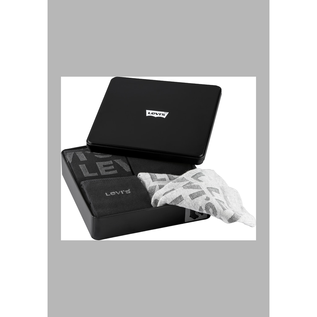 Levi's® Businesssocken, (Box, 4 Paar), perfekt als Geschenk in der Box
