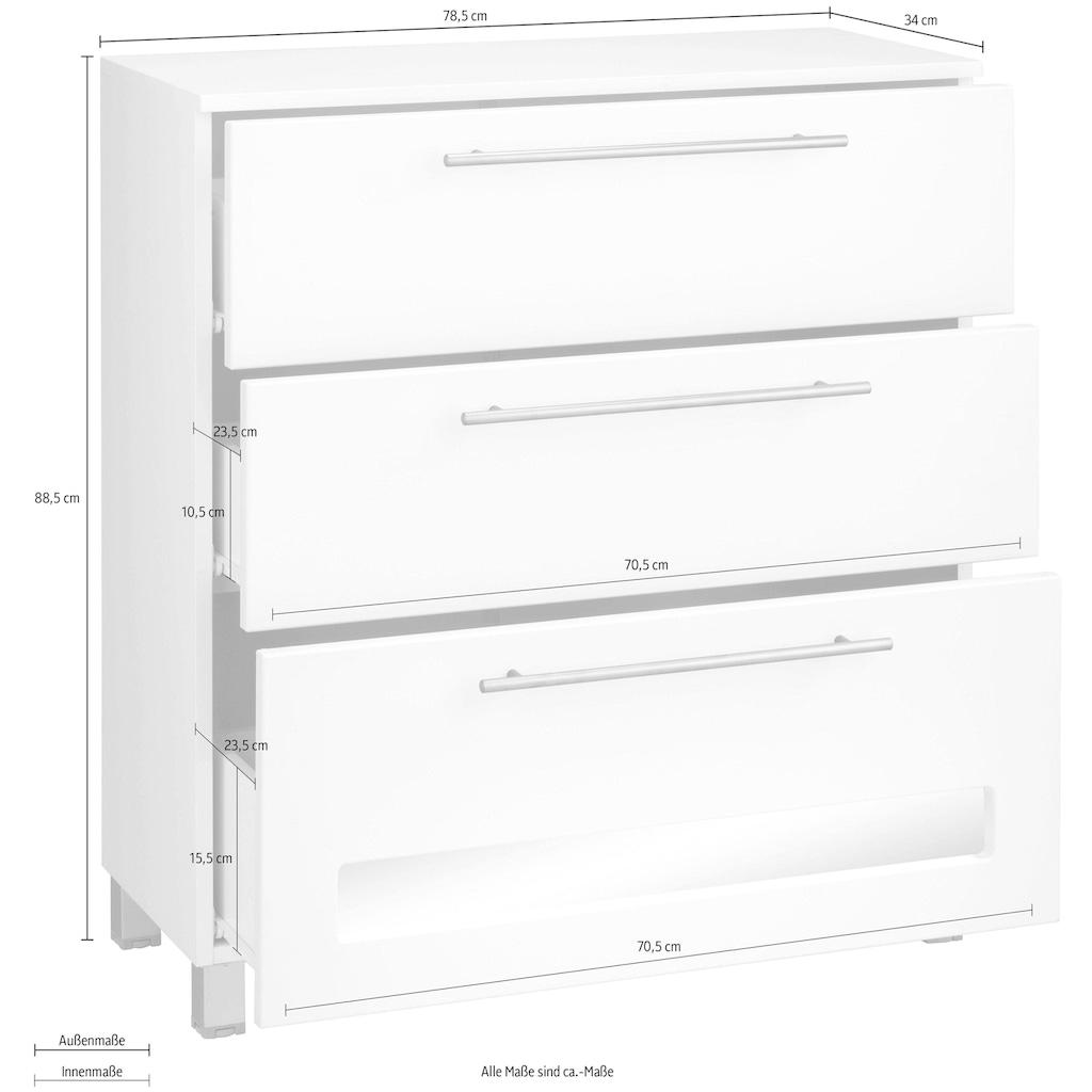 welltime Badkommode »Tauri«, Breite 78,5 cm, Badmöbel in 2 Varianten