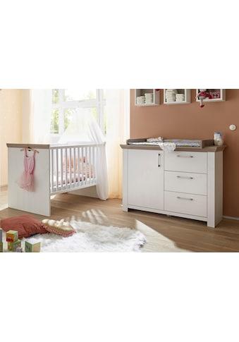 Babymöbel-Set »Stralsund«, (Spar-Set, 2 tlg.), Bett + Wickelkommode kaufen