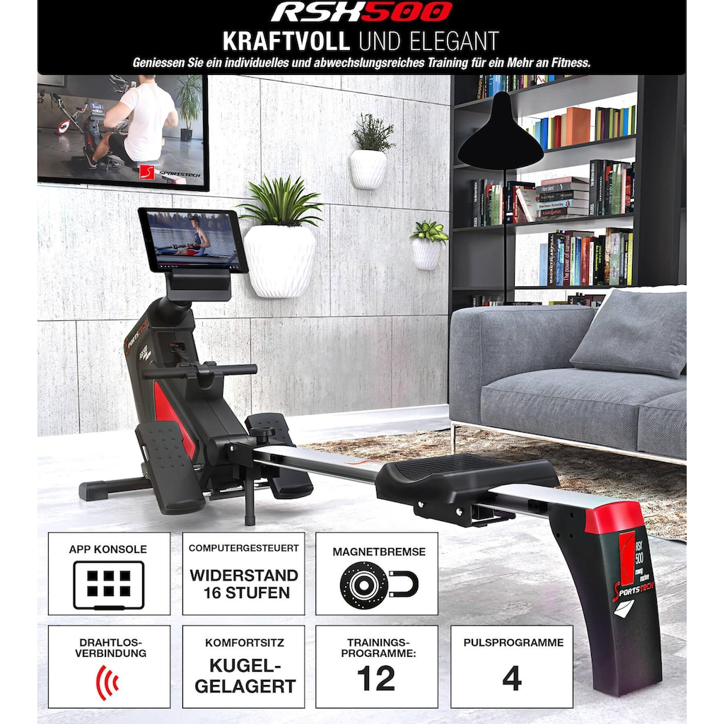Sportstech Rudergerät »RSX500«