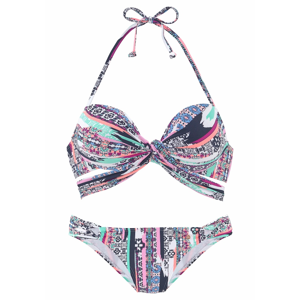 s.Oliver Push-Up-Bikini, mit Wickeloptik
