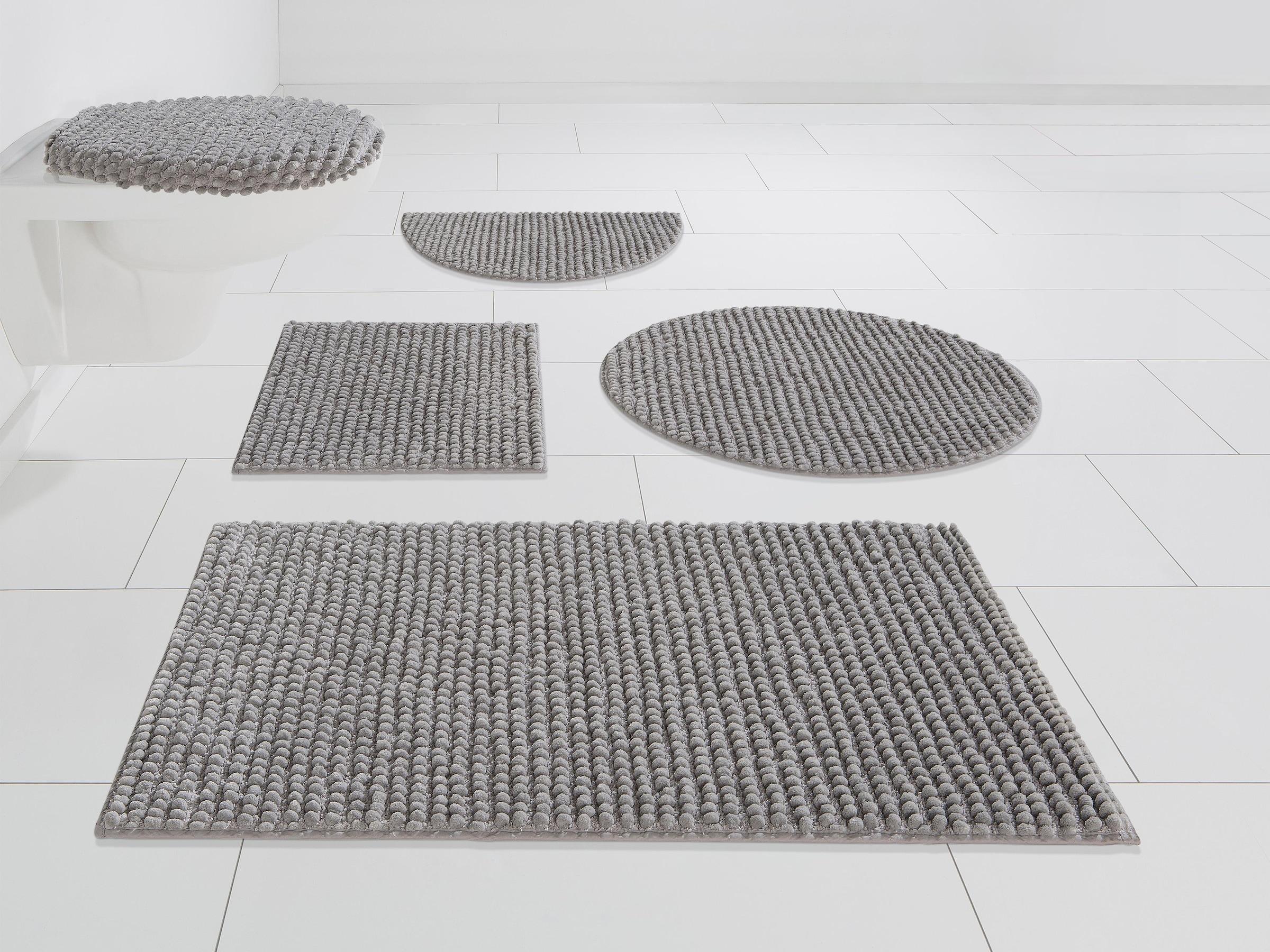 andas Badematte »Renat«, Höhe 20 mm, Badteppich, Badgarnitur,  Badezimmerteppich in Pastell, waschbar, geeignet für Fußbodenheizung,  schnell trocknend