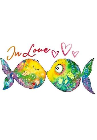 Wall - Art Wandtattoo »Lebensfreude  -  Verliebte Fische« (1 Stück) kaufen