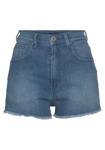 Pepe Jeans Jeansshorts »RACHEL SHORT«, in toller Waschung mit Sattel und offener Kante kaufen