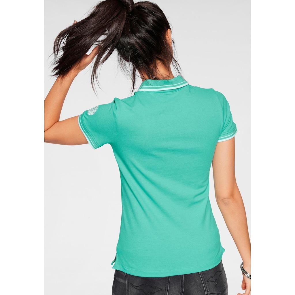 KangaROOS Poloshirt, mit großem Frontdruck