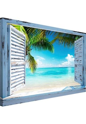 Wandbild »Strandfenster« kaufen