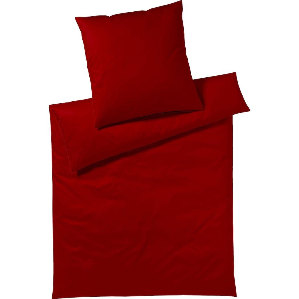 Yes for Bed Bettwäsche »Pure & Simple Uni«, aus hochwertigem Mako-Satin