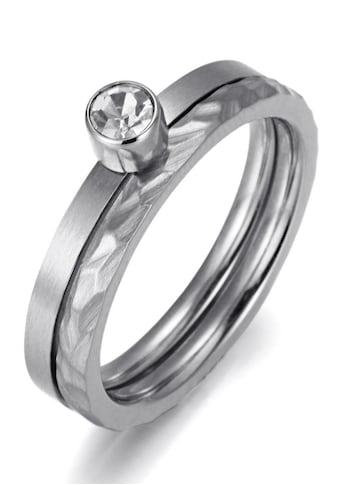 Firetti Ring-Set »zus. 4,0 mm, matt- und glanzoptik, strukturiert, stilvoll«, (Set, 2... kaufen
