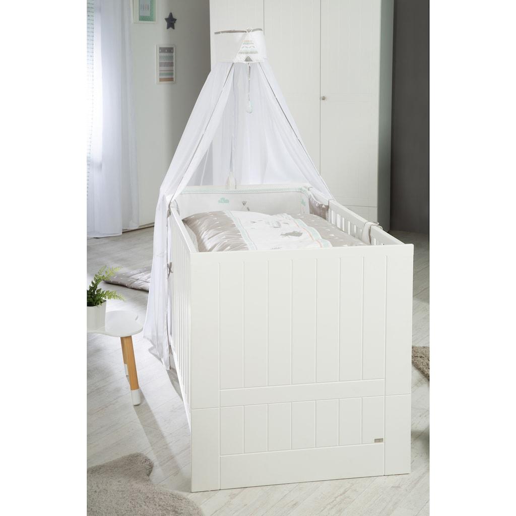 roba® Babyzimmer-Komplettset »Mia«, (Set, 3 St.), mit Kinderbett, Schrank und Wickelkommode