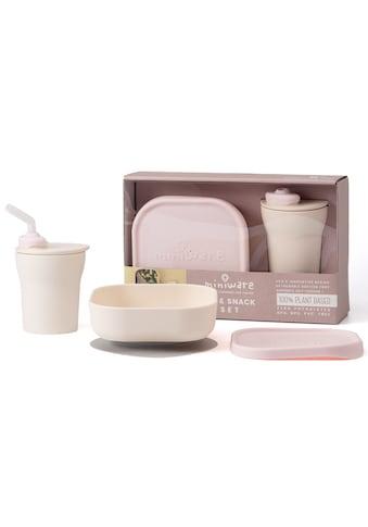 miniware Kindergeschirr-Set »Sip & Snack«, (Set), Trinklernbecher und Müslischale mit luftdichtem Deckel und Saufguß kaufen
