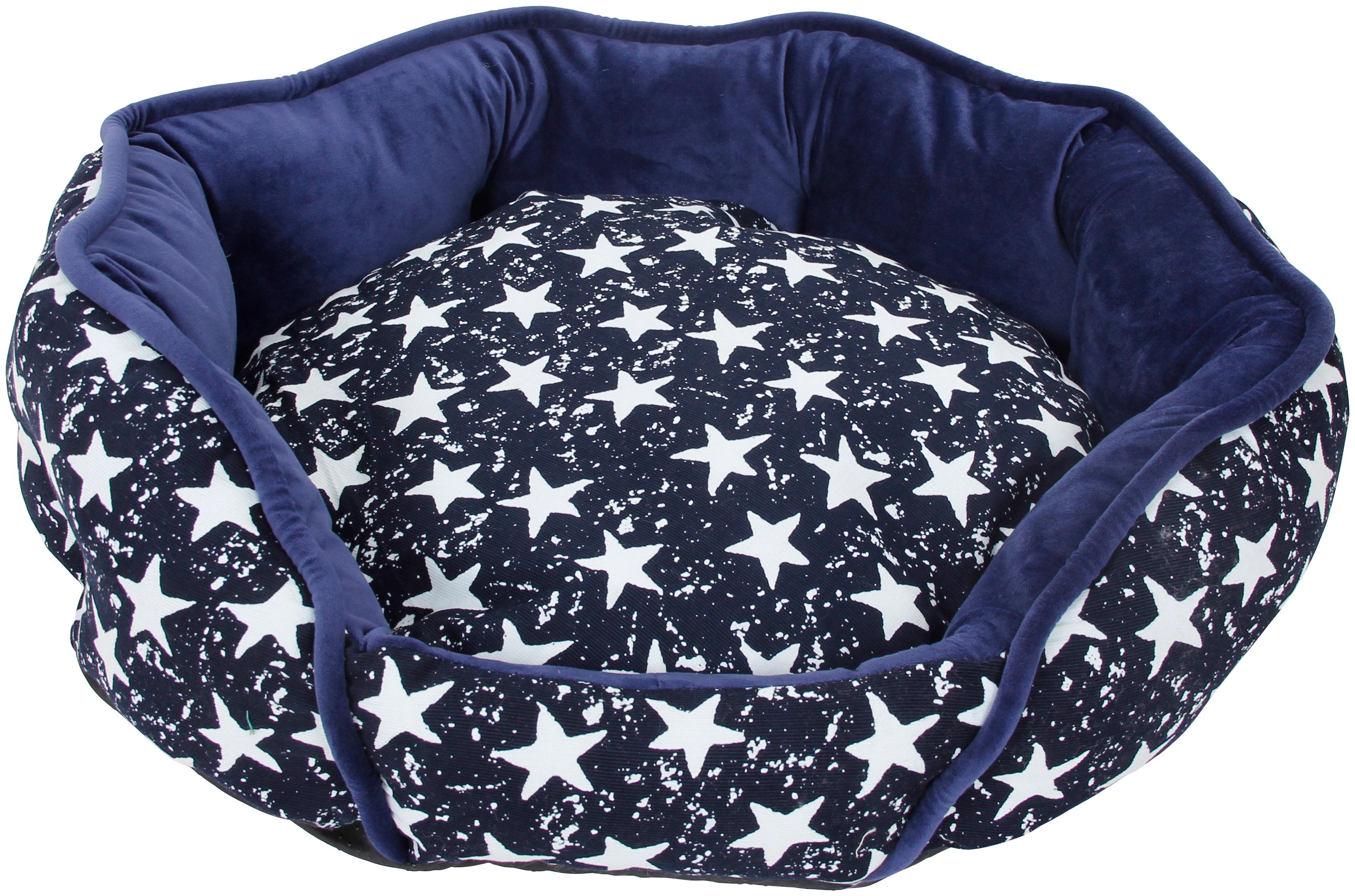 HEIM Hundebett und Katzenbett »Luxus - Star«, blau-weiß | Garten > Tiermöbel | HEIM