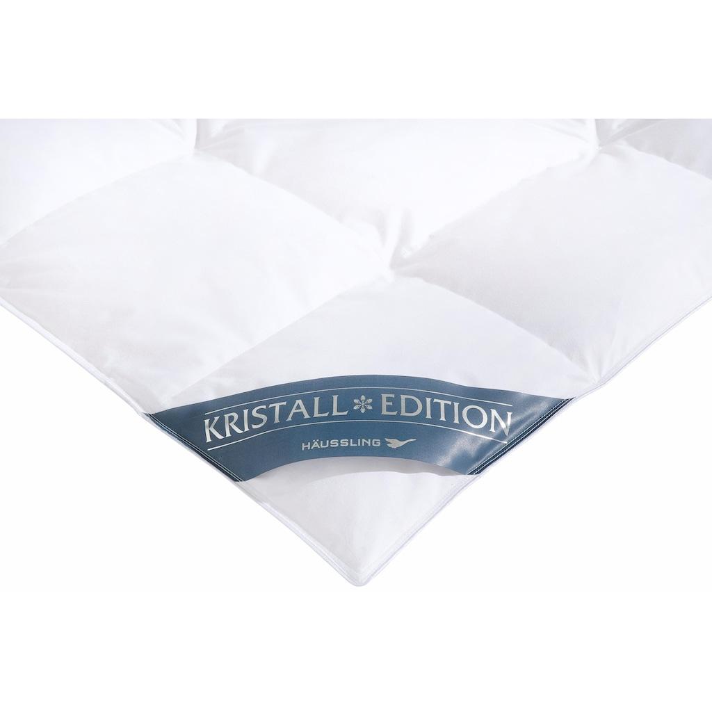 Haeussling Daunenbettdecke »Kristall Edition«, normal, Füllung 60% Daunen, 40% Federn, Bezug 100% Baumwolle, (1 St.)