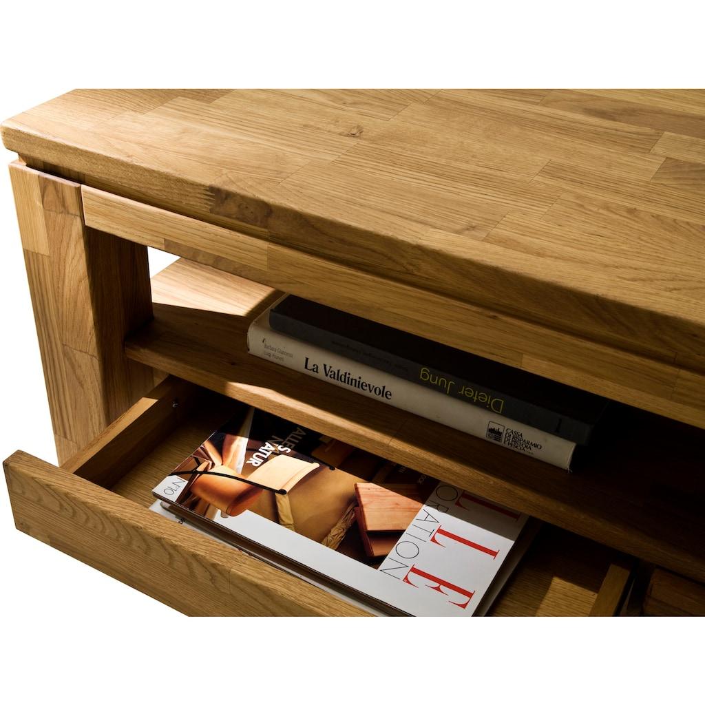 MCA furniture Couchtisch, Couchtisch Massivholz mit Schubladen