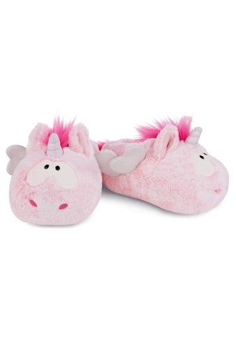 Nici Plüsch Hausschuhe »Pink Harmony«, im süßen Einhorn-Look kaufen
