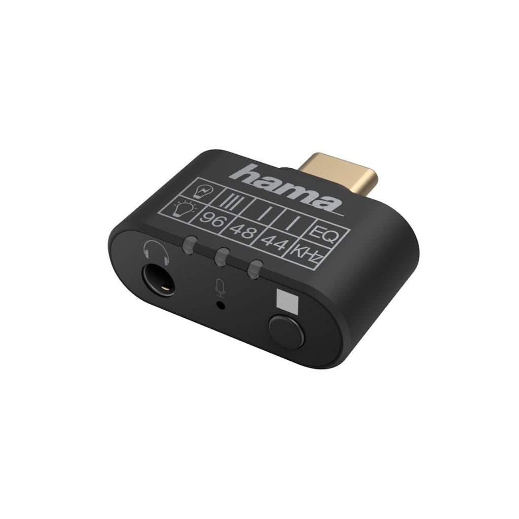 Hama Audio-Adapter »Equalizer, Mikrofon«, USB-C zu 3,5-mm-Klinke, USB-C-Stecker - 3,5-mm-Klinke-Buchse