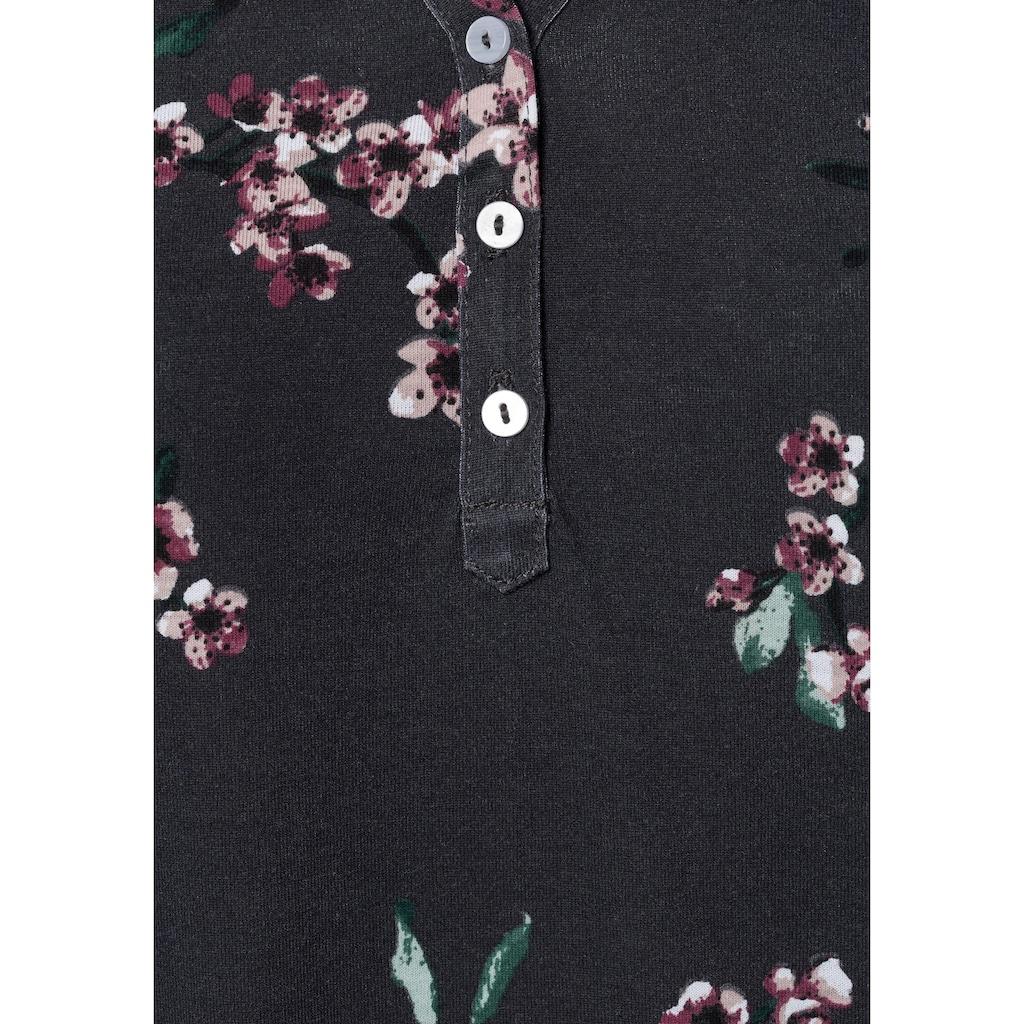 LASCANA Shirttop, (2er-Pack), mit kleinen Flügelärmelchen und floralem Druck