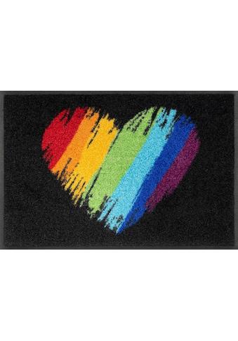 wash+dry by Kleen-Tex Fußmatte »Pride Heart«, rechteckig, 7 mm Höhe, Schmutzfangmatte,... kaufen