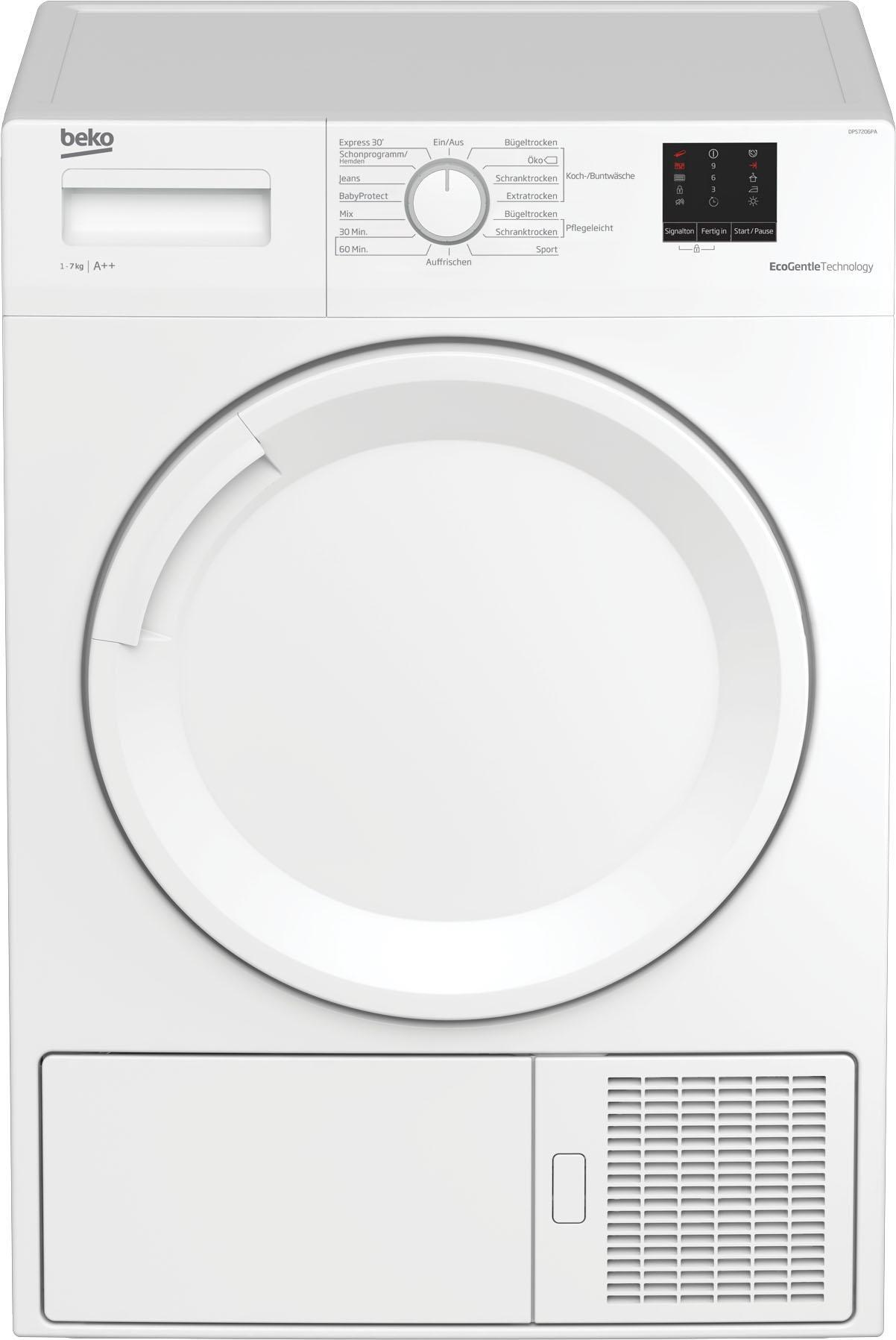 BEKO Wärmepumpentrockner DPS7206PA, 7 kg | Bad > Waschmaschinen und Trockner | Weiß | BEKO