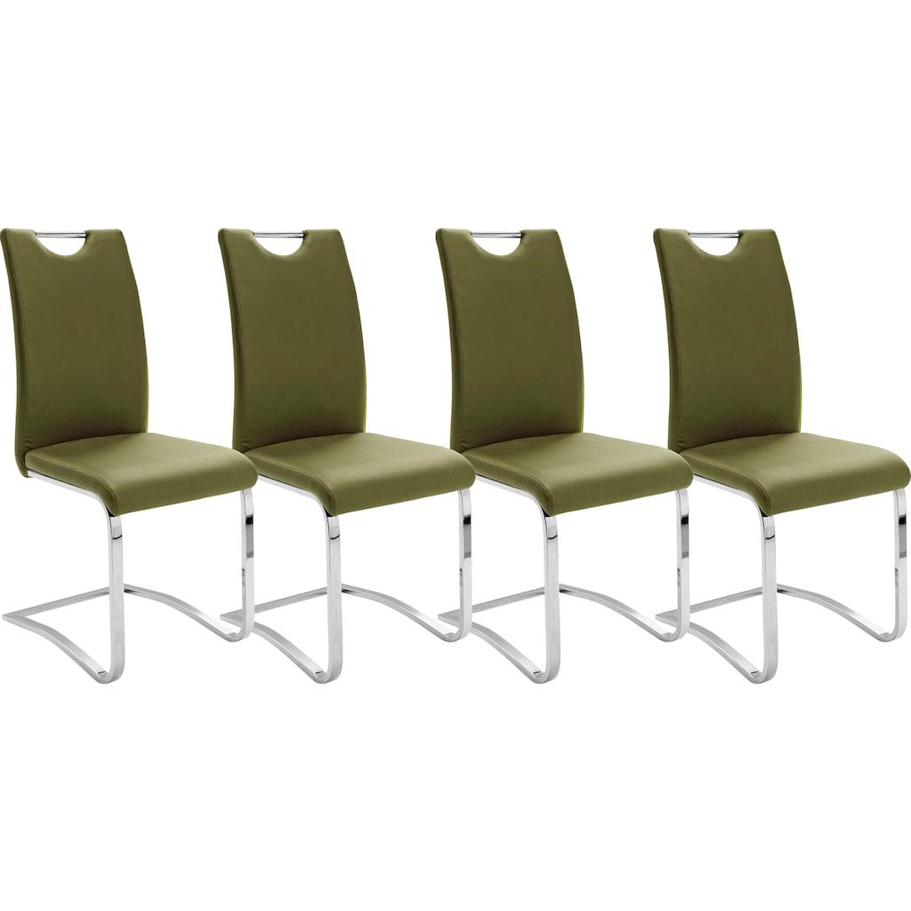 MCA furniture Freischwinger »Köln«, Kunstlederbezug mit Griffloch, Komfortsitzhöhe, Stuhl belastbar bis 120 kg