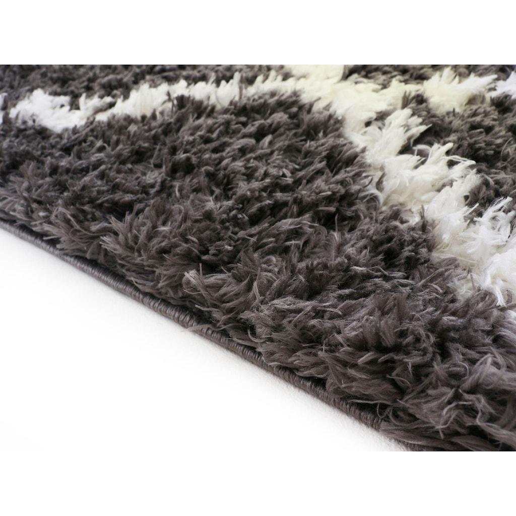 carpetfine Hochflor-Teppich »Edda«, rechteckig, 30 mm Höhe, mit modernen Fransen
