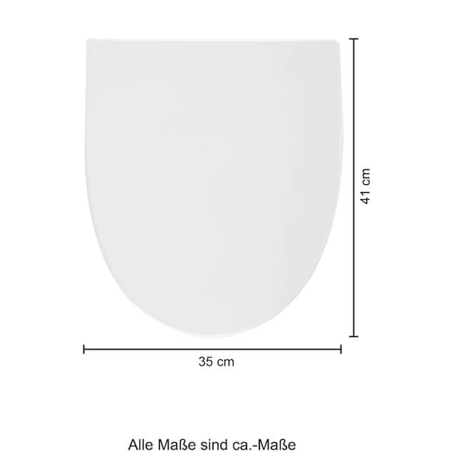 WELLTIME Wand-WC »Spring«, Toilette spülrandlos, inkl. WC-Sitz mit Softclose