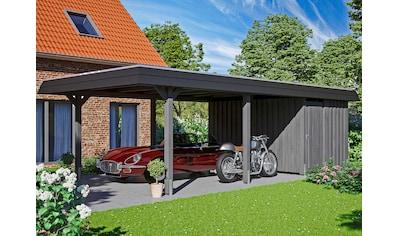 Skanholz Einzelcarport »Wendland«, Leimholz-Nordisches Fichtenholz, 341 cm, dunkelgrau kaufen