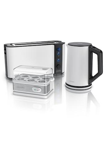 Arendo Frühstücks-Set »Wasserkocher / Toaster / Eierkocher«, 3-teilig in weiß kaufen