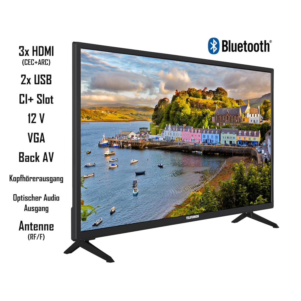 "Telefunken LED-Fernseher »XH32AJ600V«, 80 cm/32 "", HD-ready, Android TV"