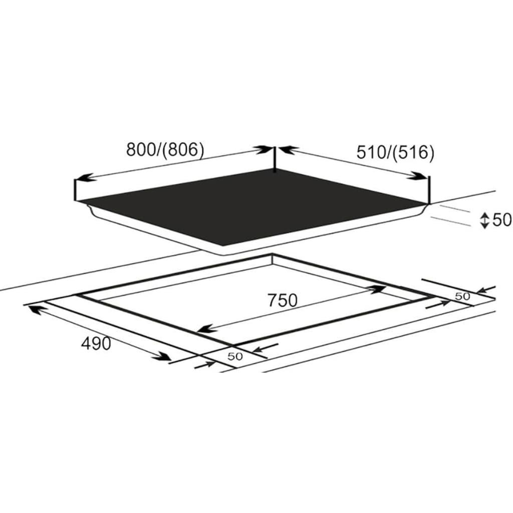 vonReiter Flex-Induktions-Kochfeld »EKI 8050/6 Flex«, EKI 8050/6 Flex