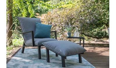 Siena Garden Loungesessel »Loungesessel Rockford«, Aluminium, mit Fußhocker, inkl. Auflagen kaufen
