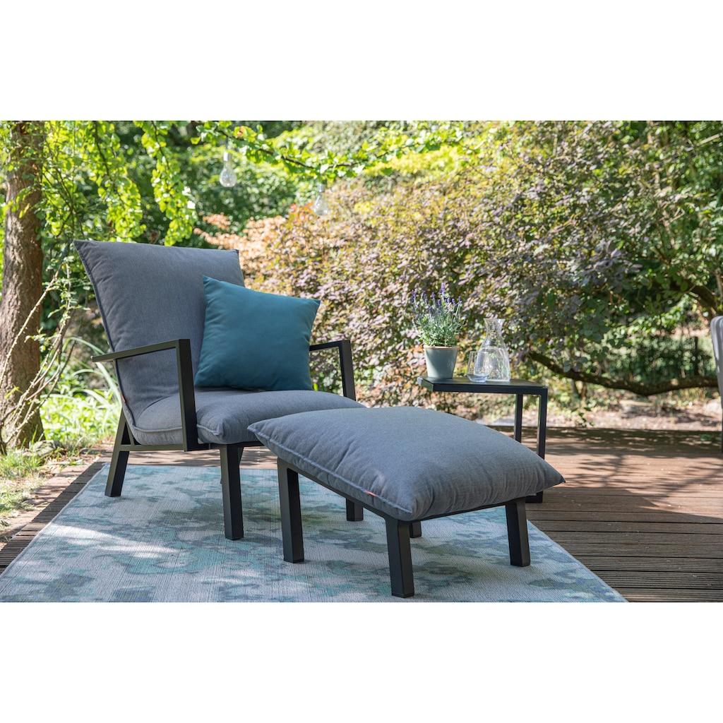 Siena Garden Loungesessel »Loungesessel Rockford«, Aluminium, mit Fußhocker, inkl. Auflagen