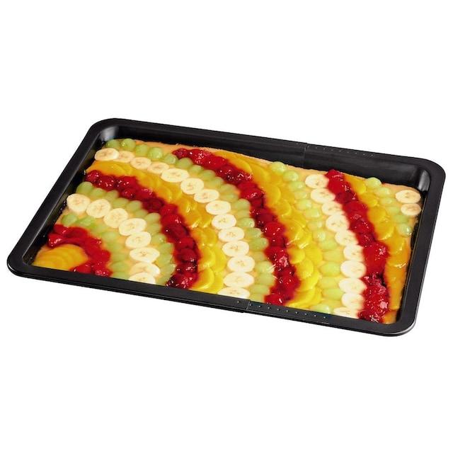 Xavax Backofenblech Backblech Blech Kuchenblech Herdblech »Ofenblech ausziehbar 33-52 cm«