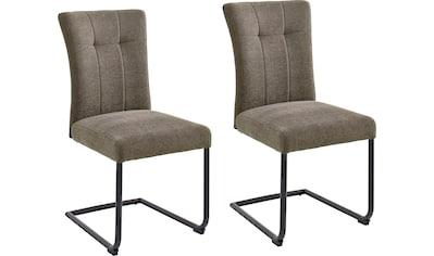 MCA furniture Freischwinger »Calanda«, Esszimmerstuhl mit Aqua Clean Bezug, Nosag... kaufen