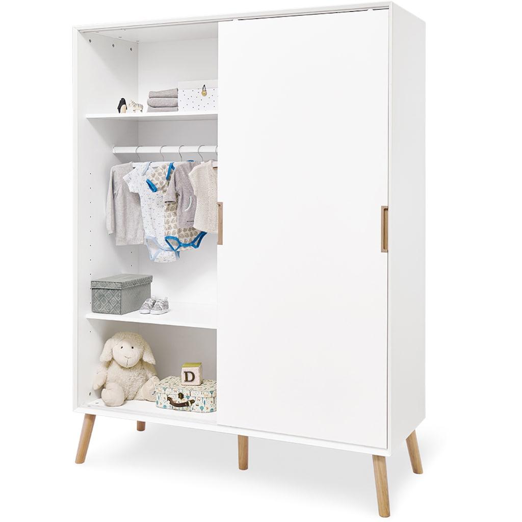 Pinolino® Babyzimmer-Komplettset »Edge«, (Set, 3 St.), extrabreit groß; mit Kinderbett, Schrank und Wickelkommode; Made in Europe