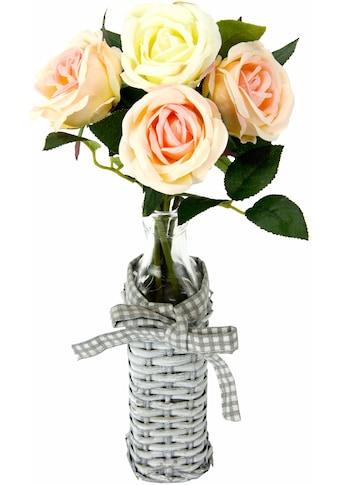 I.GE.A. Kunstpflanze »Rosen in Weideglasvase« (1 Stück) kaufen