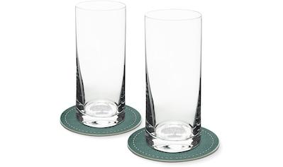 Contento Longdrinkglas, (Set, 4 tlg., 2 Longdrinkgläser und 2 Untersetzer), Baum, 400... kaufen