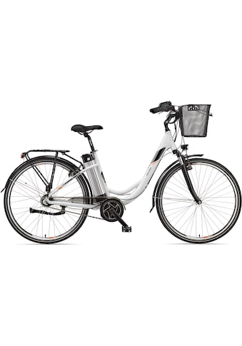 Telefunken E-Bike »Multitalent RC870«, 7 Gang, Shimano, Nexus, Mittelmotor 250 W, mit Fahrradkorb kaufen