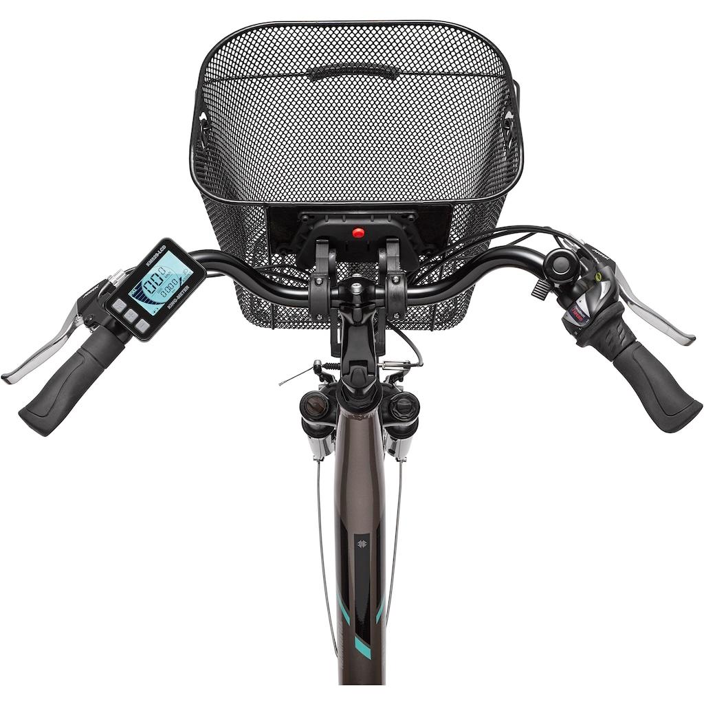 Telefunken E-Bike »Multitalent RC860«, 7 Gang, Shimano, Shimano Acera, Mittelmotor 250 W, (mit Fahrradkorb)
