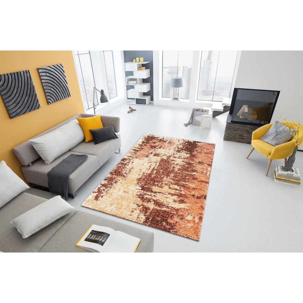my home Hochflor-Teppich »Hannes«, rechteckig, 30 mm Höhe, Vintage Design