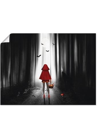 Artland Wandbild »Das Rotkäppchen auf High Heels«, Dark Fantasy, (1 St.), in vielen Größen & Produktarten - Alubild / Outdoorbild für den Außenbereich, Leinwandbild, Poster, Wandaufkleber / Wandtattoo auch für Badezimmer geeignet kaufen
