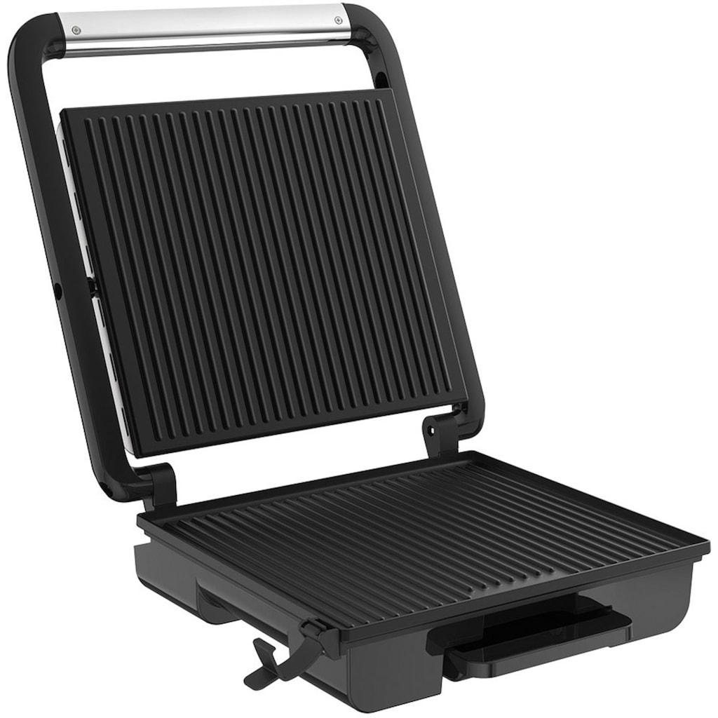 Tefal Kontaktgrill »GC242D Inicio Grill Adjust«, 2000 W, Regelbarer Thermostat mit 3 Stufen, Antihaftbeschichtete Platten