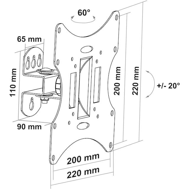 Schwaiger TV Wandhalterung neigbar »für Displays mit 58-107cm (23-42 Zoll)«