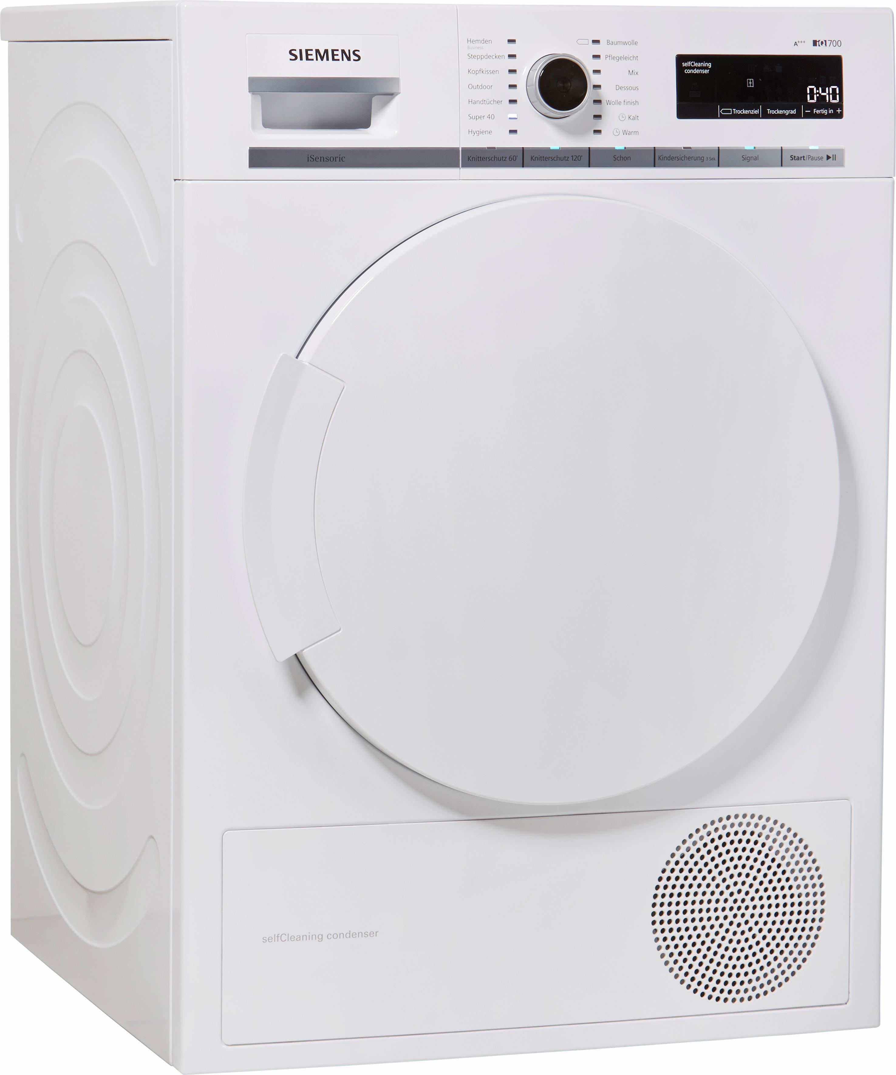 SIEMENS Wärmepumpentrockner iQ700 WT44W5W0, 8 kg | Bad > Waschmaschinen und Trockner | Siemens