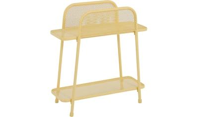 Garden Pleasure Regal »Shelfo«, Metall, 55x27x70 cm, gelb kaufen