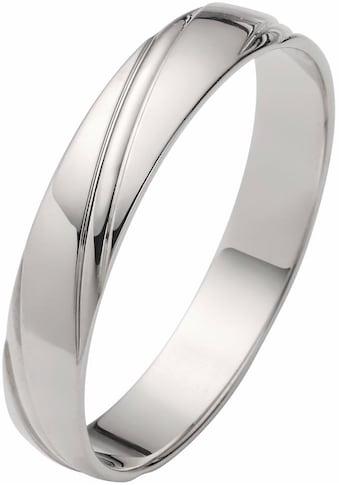 Firetti Trauring mit Gravur »glanz, Diamantschnitt, 4,0 mm breit« kaufen