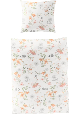 BIERBAUM Bettwäsche »Landhaus Blumen«, 100 % Baumwolle, Bio-Mako-Satin Qualität kaufen